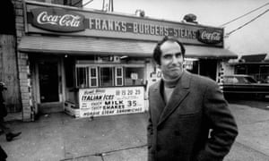 Philip Roth revisiting a childhood haunt in Newark, New Jersey, 1968.