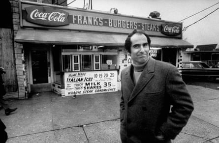 Philip Roth, revisiting near where he grew up in Newark, in 1968.