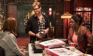 Kristen Wiig, Chris Hemsworth and Leslie Jones in Ghostbusters