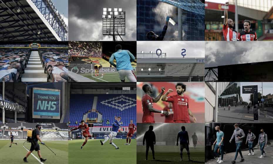 The Premier League Restart. Photographs: Tom Jenkins.