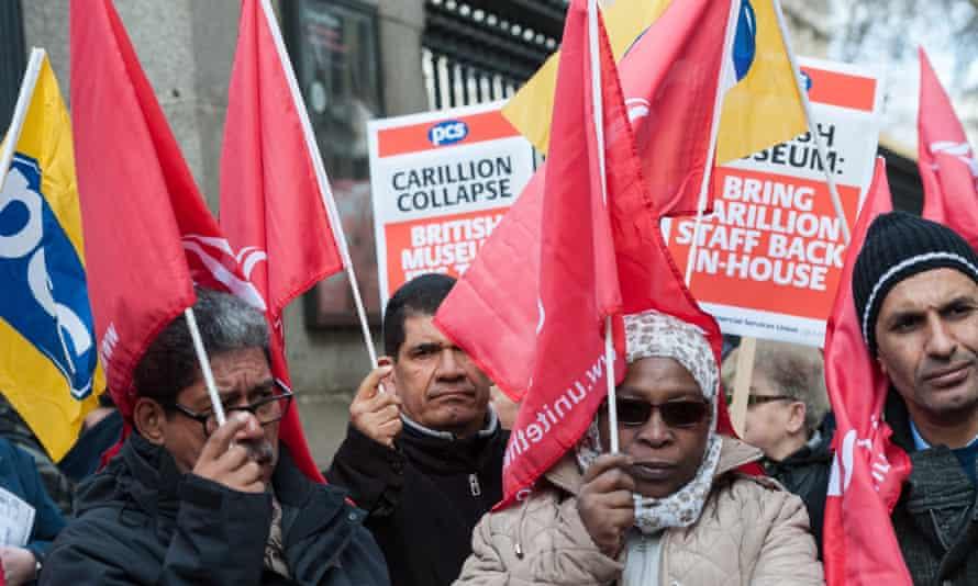 Protest over ex-Carillion staff rights