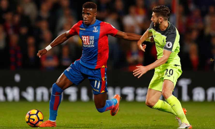 Wilfried Zaha, centre, only recently made the decision to play for the Ivory Coast but will bear much of his side's attacking burden.
