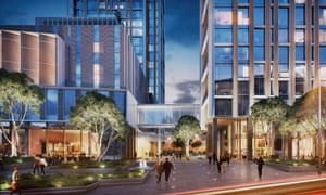An artist's impression of the One Nine Elms development at Vauxhall.