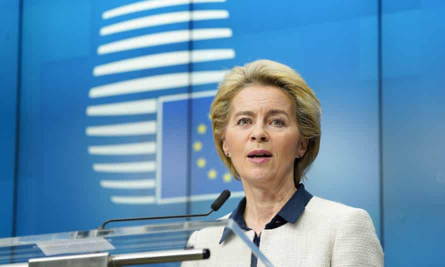 Ursula von der Leyen at the European council summit in Brussels in December