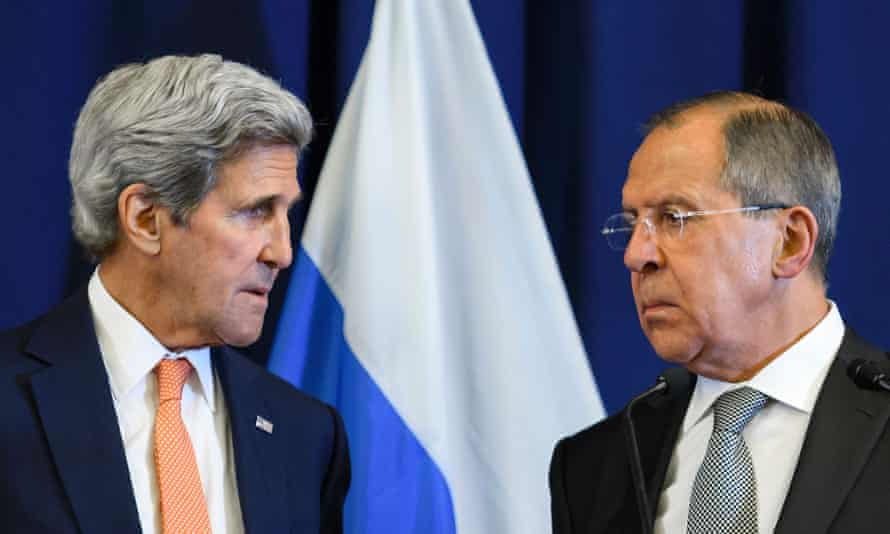 The US secretary of state, John Kerry, left, and the Russian foreign minister, Sergei Lavrov, are to meet on Saturday.