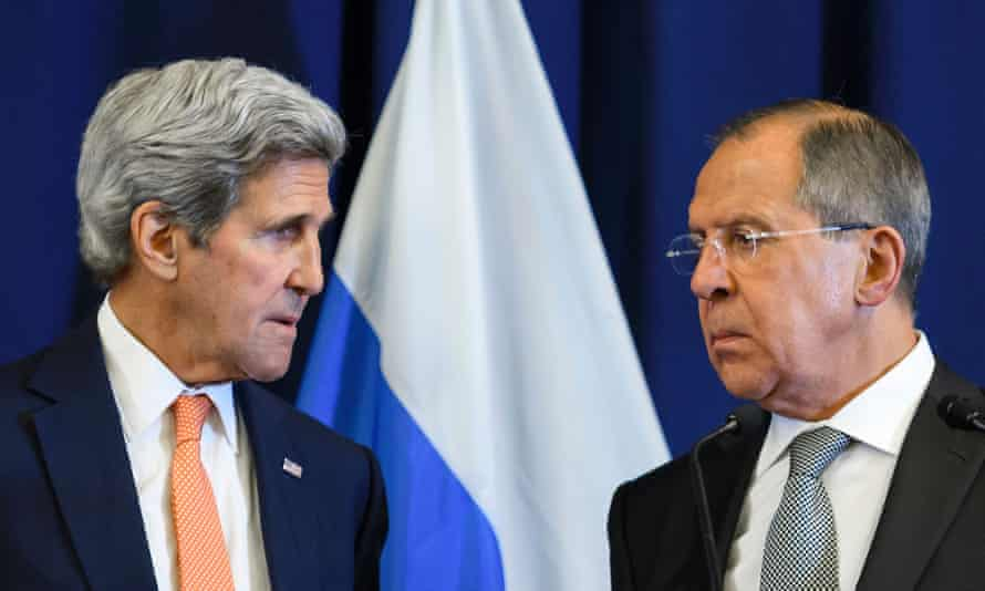 US Secretary of State John Kerry and Russian Foreign Minister Sergei Lavrov