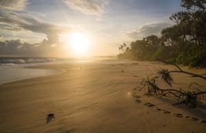 Rekawa beach on the south coast.