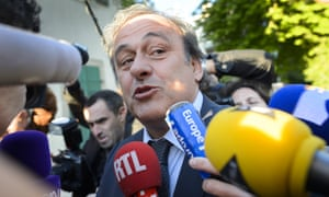 Michel Platini at the court of arbitration for sport ... Blatter blames him for taking vital World Cup votes away from the US.