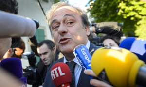 Michel Platini pictured before appearing at the court of arbitration for sport in April 2016. He is taking legal action on four fronts.