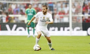 Asier Illarramendi, pictured in pre-season action for Real Madrid against Spurs, is out of favour in Spain and valued at £15m.