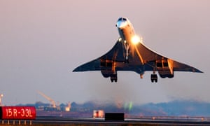 A BA-owned Concorde prepares to land in Boston, US, on the aircraft's farewell North American tour in 2003.