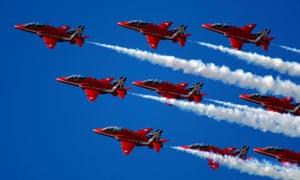 'An arms fair with some family fun sprinkled around the edges' … Farnborough Airshow.