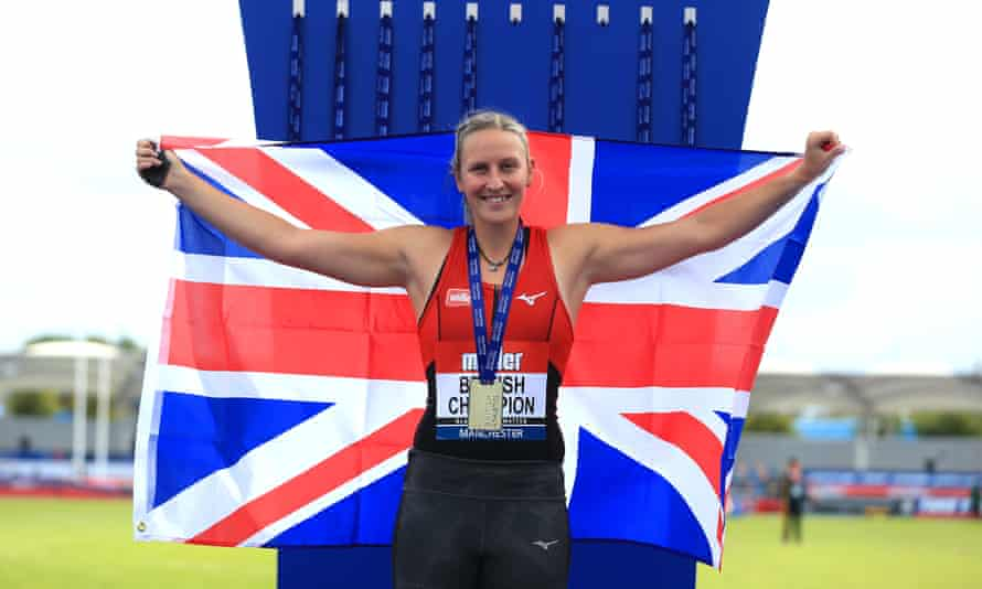 Holly Bradshaw poses with her medal after the British Athletics Championships in Manchester last year.