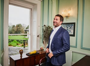 Sports promoterEddie Hearn photographed at his firm's offices, a converted pile just outside Brentwood, Essex