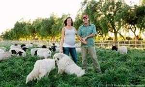 Molly and John Chester, who run Apricot Lane Farms.