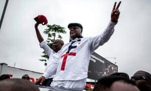 Felix Tshisekedi (right) and his running mate Vital Kamerhe campaign in Kinshasa, November 2018.