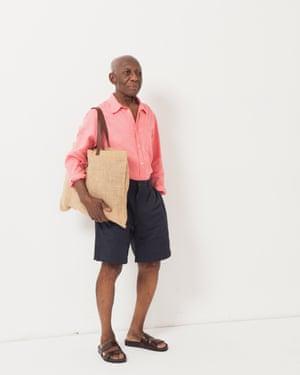 Model wears shirt, £45, arket.com. Shorts, £49, communityclothing.com. Sandals, £140, grenson.com