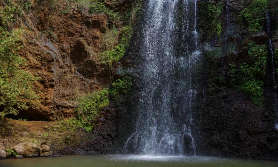 The waterfalls in Ngare Ndare Forest