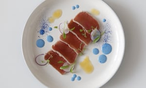'There's a good reason why savoury foods are rarely blue': tuna with blue spirulina.