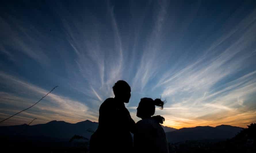 Sunset in Kathmandu Nepal