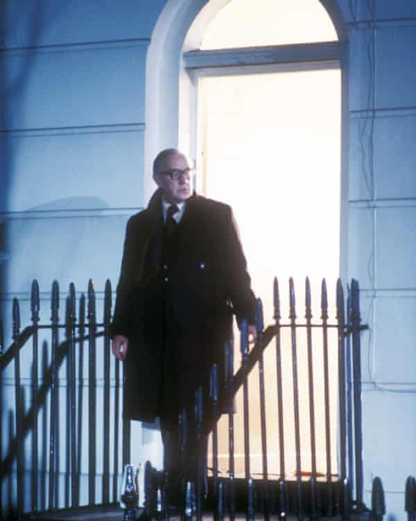 Alec Guinness as George Smiley in the BBC adaptation of Le Carré's spy thriller Tinker Tailor Soldier Spy.