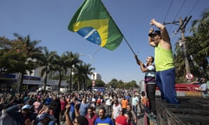 As some protesters call for military action, the president, Michel Temer, has said he sees 'zero risk' of such intervention.