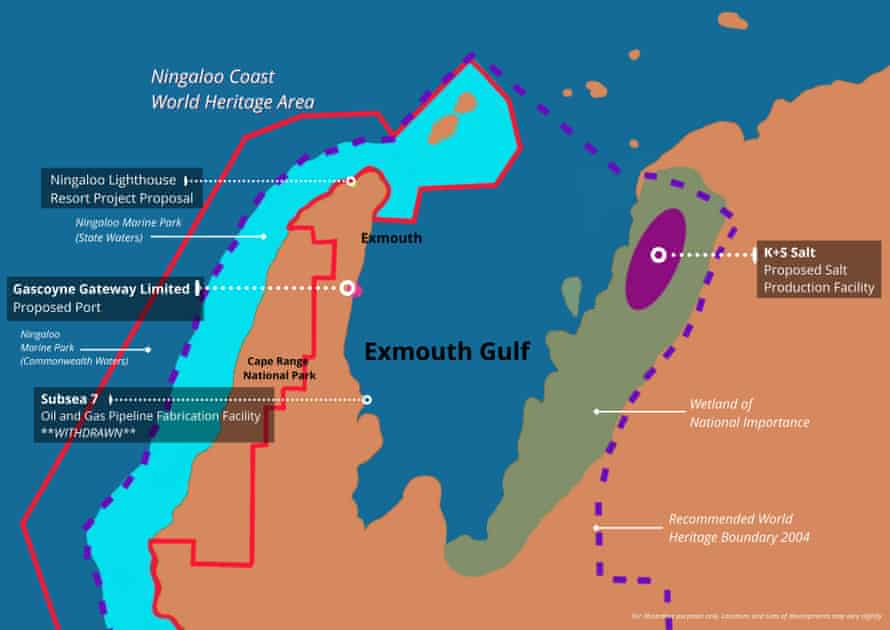 Exmouth Gulf Proposed Developments Map copy