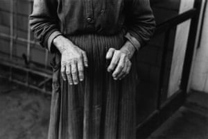 Russell Lee  Hands of Old Homesteader, Iowa 1936