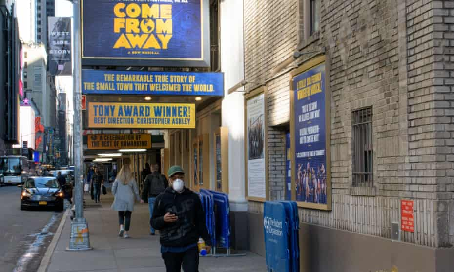 Broadway theatres shutter for at least a month.