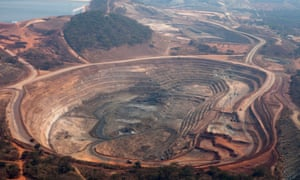 The Mutanda copper mine in Congo, operated by Glencore