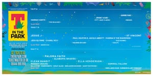T in the Park Festival poster showing female acts
