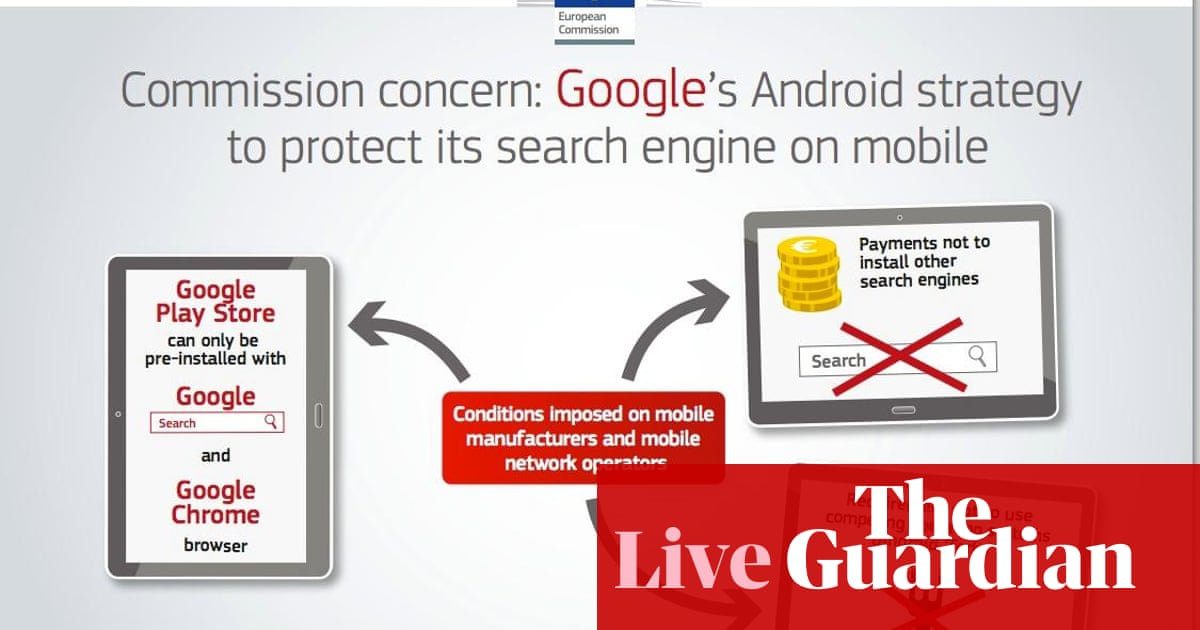 EU hits Google with anti-trust charges over Android - as it