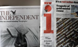 The Independent and the i newspaper side by side