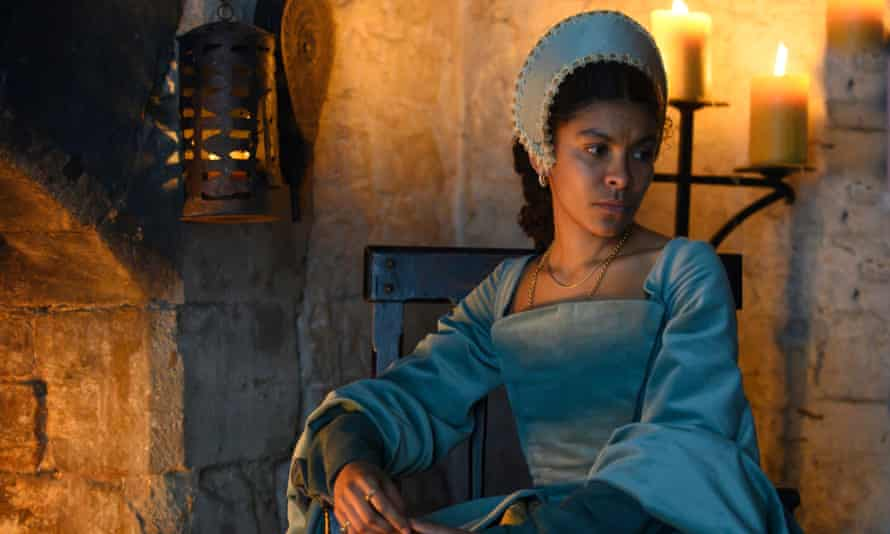 Anne Boleyn's handmaiden, Madge Shelton, played by Thalissa Teixeira.