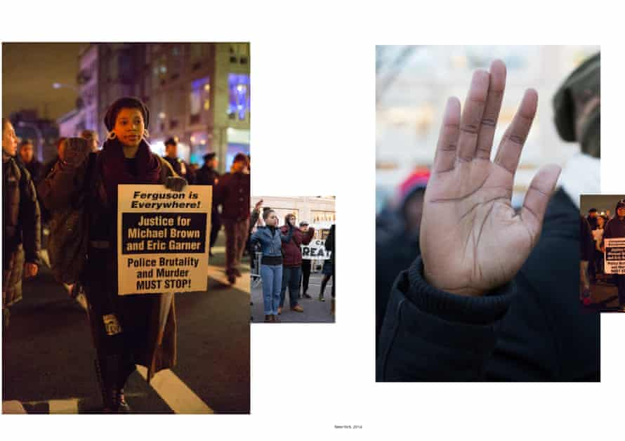 Juxtapoistions … protesters in New York, 2014.