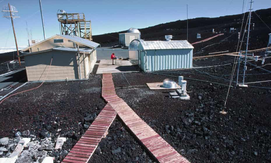 The Mauna Loa Observatory in Hawaii, which measures atmospheric carbon dioxide.