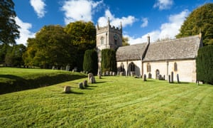 The Anglican parish church of St Peter in Upper Slaughter in Gloucestershire