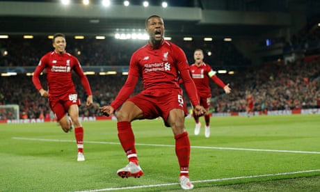 Liverpool 4-0 Barcelona (4-3 agg): Champions League semi-final – as