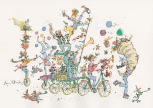 Guardian Christmas card by Quentin Blake.