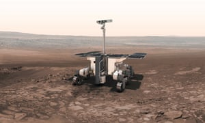 An artist's impression of the ExoMars 2020 rover.