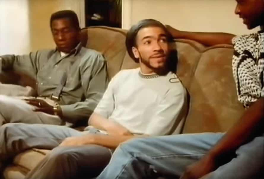 Anthony Ekundayo Lennon with two other actors in the BBC Everyman play Chilling Out in 1990