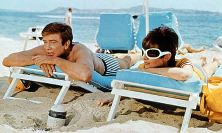 Albert Finney and Audrey Hepburn in Two for the Road, 1967.