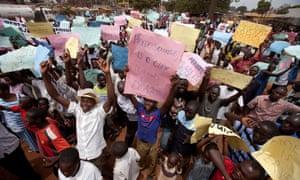 Anti-homosexuality protesters in Uganda