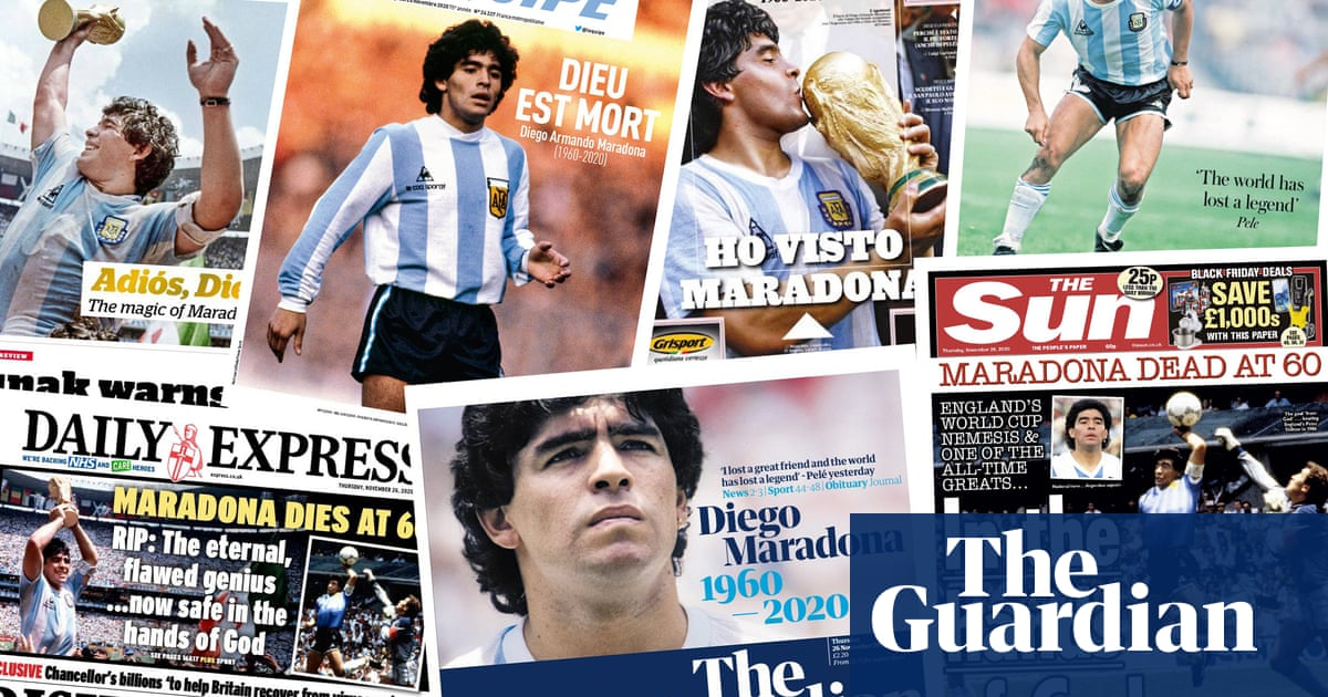 In the hands of God: what the papers say about the death of Diego Maradona