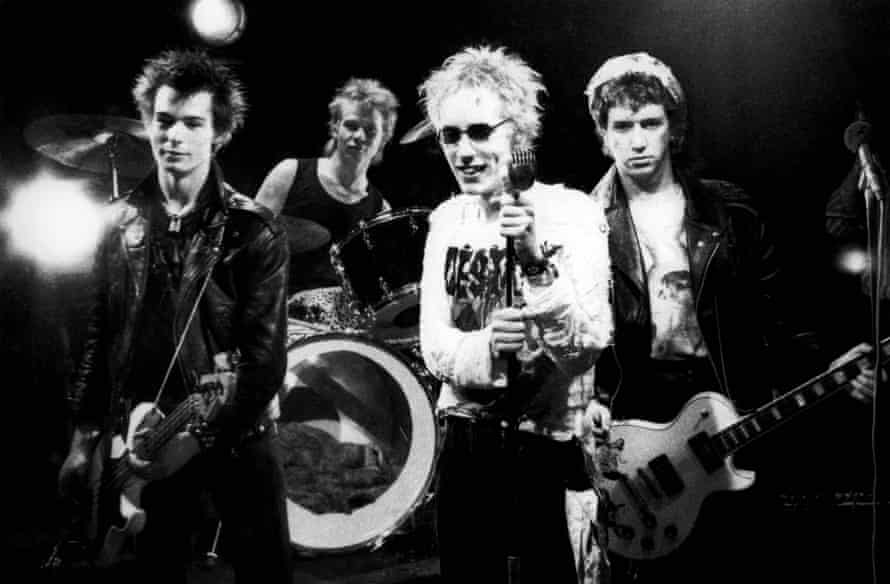 Sex Pistols in 1977 … from left, Sid Vicious, Paul Cook, Johnny Rotten and Steve Jones