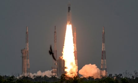 India's Chandrayaan-2 moon mission which ended in a crash landing in September 2019.