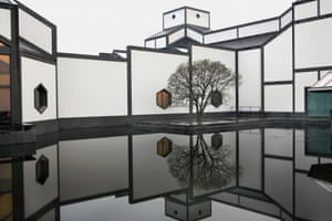 The garden at the Suzhou Museum in China.