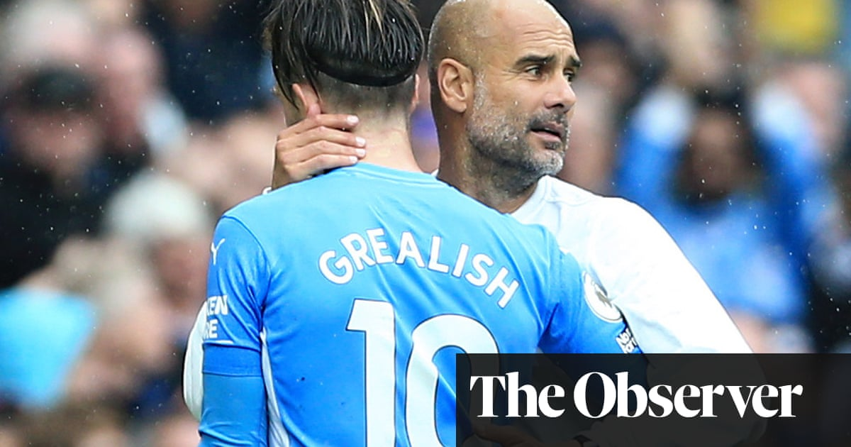 Pep Guardiola challenges Jack Grealish to copy 'machine' Raheem Sterling