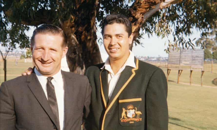 Former Australian leg spinner Rex Sellers pictured with his South Australian captain and friend Les Favell in 1964.