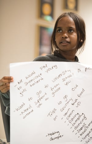 """We want the PM to showcase young girls' talent"": students at Fitzroy Crossing High School."